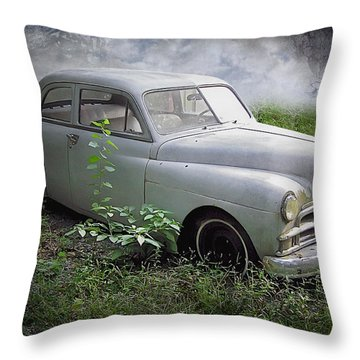 Classic Car Throw Pillow by Brian Wallace