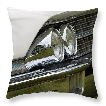 Throw Pillow featuring the photograph Classic Car Front Wing And Lights by Mick Flynn
