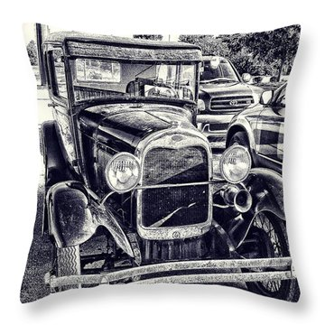 Classic Car Throw Pillow by Gerry Robins
