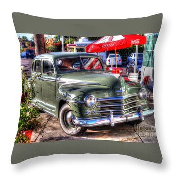 Throw Pillow featuring the photograph Classic Car by Kevin Ashley