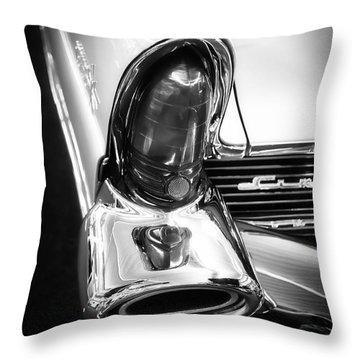 Classic Car Tail Fin Throw Pillow by Edward Fielding