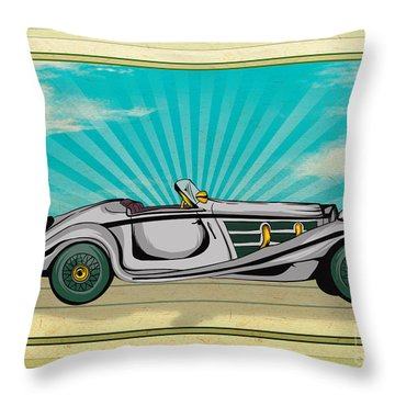 Classic Cars 02 Throw Pillow