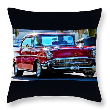 Classic Chevrolet Throw Pillow by Tap On Photo