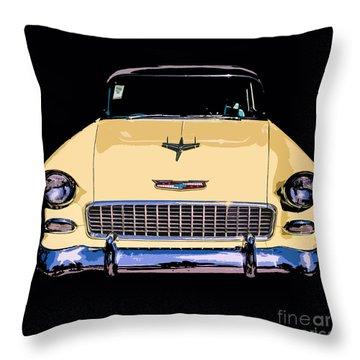 Classic Chevy Pop Art Throw Pillow by Edward Fielding