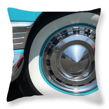 Throw Pillow featuring the photograph Classic Chevy Wagon by Jeff Lowe