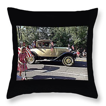 Classic Children's Parade Classic Car East Millcreek Utah 1 Throw Pillow