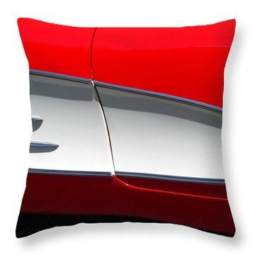 Throw Pillow featuring the photograph Classic Corvette Art by Jeff Lowe