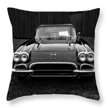 Classic Corvette Throw Pillow by Edward Fielding