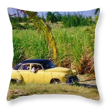 Classic Cuba Throw Pillow by Halifax Photographer John Malone