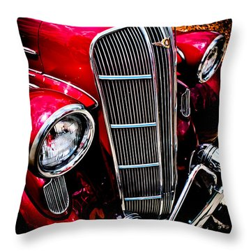 Throw Pillow featuring the photograph Classic Dodge Brothers Sedan by Joann Copeland-Paul