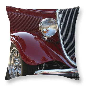 Classic Ford Car Throw Pillow
