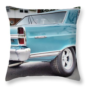 Classic Ford Fairlane Throw Pillow by Thomas  MacPherson Jr