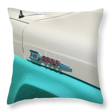 Classic Ford Throw Pillow by Patrick Shupert