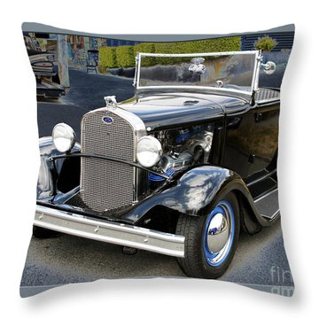 Throw Pillow featuring the photograph Classic Ford by Victoria Harrington