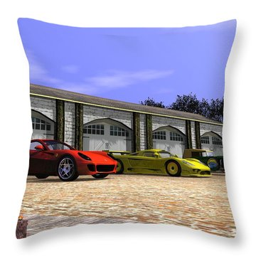 Classic Garage Throw Pillow by John Pangia