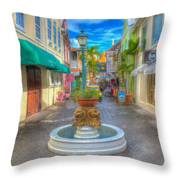 Classic Hdr Fountain Throw Pillow