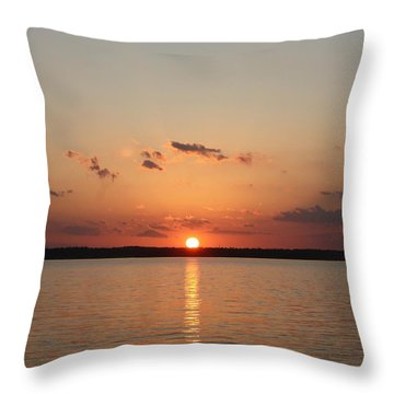 Classic Lake Sunset Throw Pillow by Ellen O'Reilly