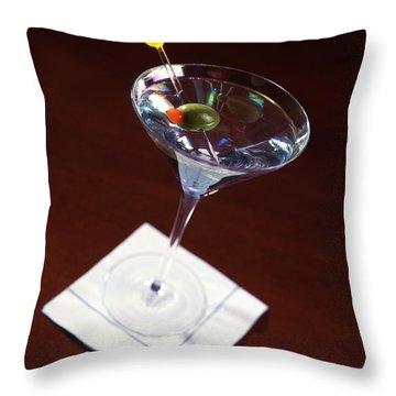Classic Martini Throw Pillow by Jon Neidert