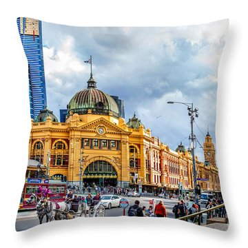 Classic Melbourne Throw Pillow