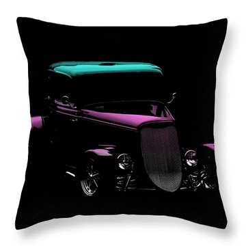 Old Car Throw Pillow featuring the photograph Classic Minimalist by Aaron Berg