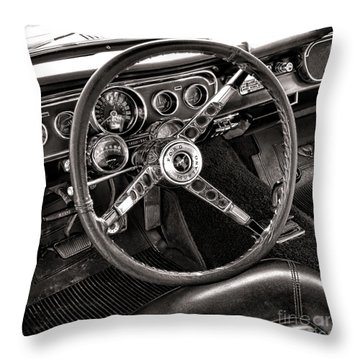 Classic Mustang Throw Pillow