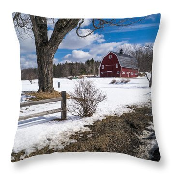 Throw Pillow featuring the photograph Classic New England Farm Scene by Edward Fielding