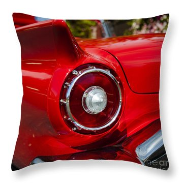 Throw Pillow featuring the photograph 1957 Ford Thunderbird Classic Car  by Jerry Cowart
