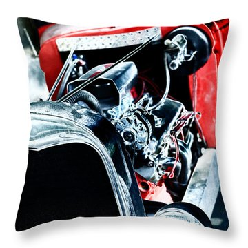 Throw Pillow featuring the digital art Classic Red by Erika Weber