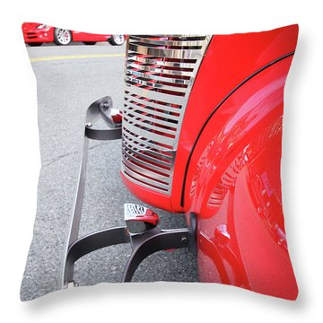 Classic Red Throw Pillow by Karol Livote