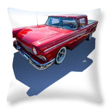 Throw Pillow featuring the photograph Classic Red Truck by Gianfranco Weiss