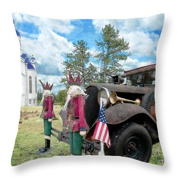 Classic Ride Throw Pillow by Liane Wright