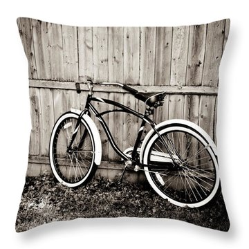 Classic Ride Throw Pillow by Sara Frank