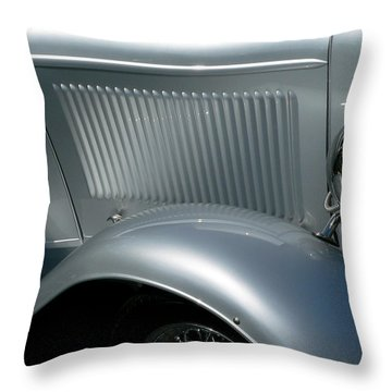 Throw Pillow featuring the photograph Classic Roadster Silver by Jeff Lowe