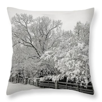 Classic Snow Throw Pillow