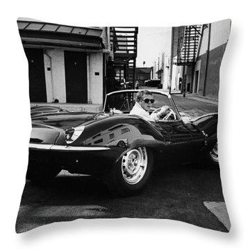 Classic Steve Mcqueen Photo Throw Pillow