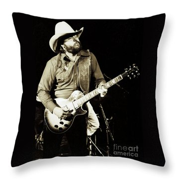 Classic Toy Caldwell Of The Marshall Tucker Band At The Cow Palace-new Years Concert  Throw Pillow