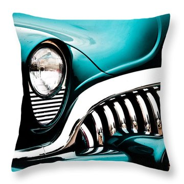 Classic Turquoise Buick Throw Pillow