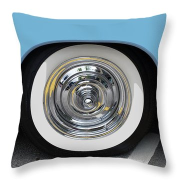 Classic Wide Whitewall Tire Throw Pillow