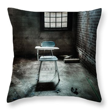 Classroom - School - Class For One Throw Pillow by Gary Heller