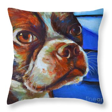 Throw Pillow featuring the painting Classy Hank by Robert Phelps