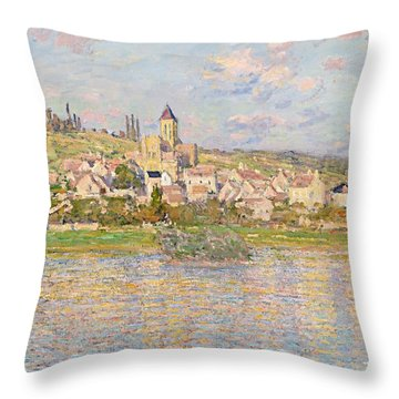 Claude Monet Vetheuil 1879 Throw Pillow