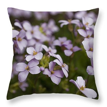 Claude's Aubrieta Throw Pillow