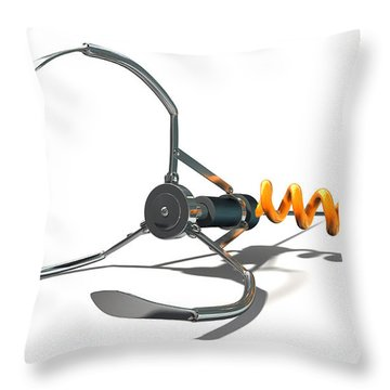 Claw Game Mechanism Throw Pillow by Allan Swart