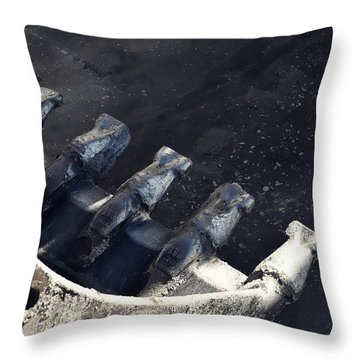 Claw - Industrial Photography By Sharon Cummings Throw Pillow by Sharon Cummings