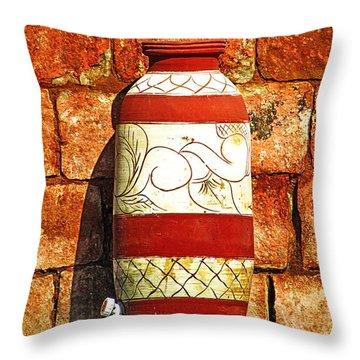 Clay Art Throw Pillow