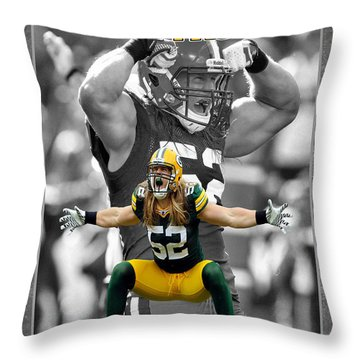 Clay Matthews Packers Throw Pillow