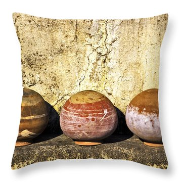 Clay Pots Throw Pillow