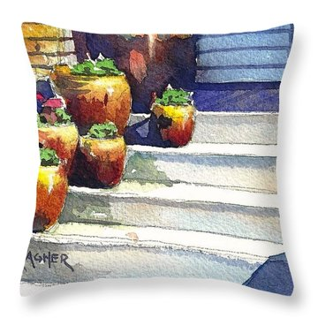Clay Pots Throw Pillow by Spencer Meagher