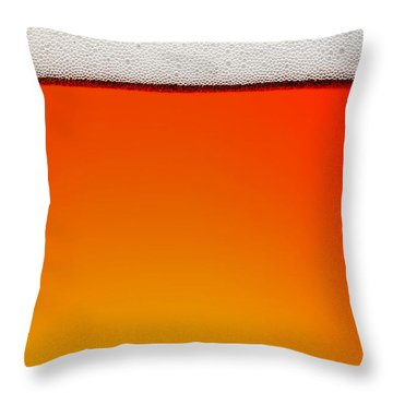 Clean Beer Background Throw Pillow by Johan Swanepoel