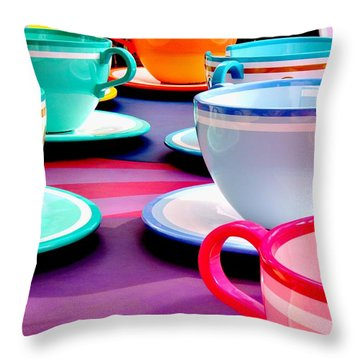 Throw Pillow featuring the photograph Clean Cup Clean Cup Move Down by Benjamin Yeager